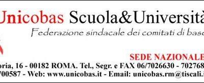 Il Coordinamento RSU dell'Unicobas scuola & Università – ASSEMBLEA SINDACALE